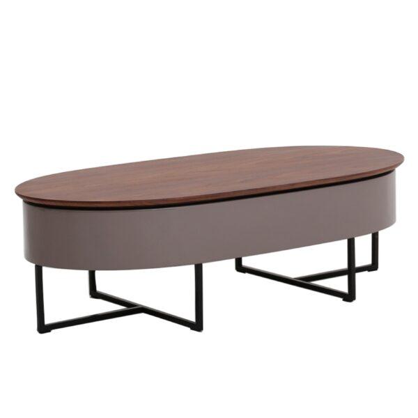 Hansel Kd Lift Top Oval Coffee Table W Storage Zozi S Loft